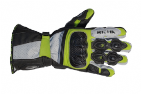 Richa Ravine Leather Summer Gloves Fluo